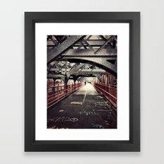 New York City Williamsburg Bridge Framed Art Print