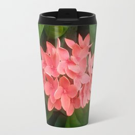 Red Rubiaceae Flower Travel Mug