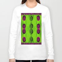 decorative Long Sleeve T-shirts featuring Decorative dots by Pepita Selles