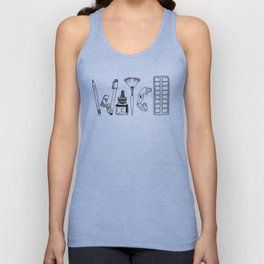 Art Tools of the Craft Unisex Tank Top