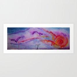Forgotten Sunset Art Print