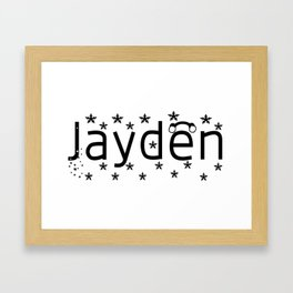 Jayden Framed Art Print