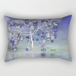 full moon in a world of glass Rectangular Pillow