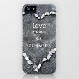 Love Knows No Boundaries iPhone Case