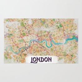 Watercolor Map of London Rug