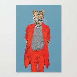 Leopard wearing Costume National Canvas Print