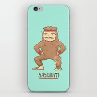 sasquatch iPhone & iPod Skins featuring Sasquatch by Darel Seow