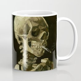 Skull of a Skeleton with Burning Cigarette by Vincent van Gogh Coffee Mug