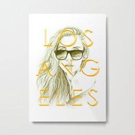 LOS ANGELES SUN Metal Print