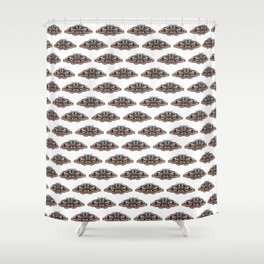 light grey moth Shower Curtain