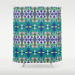 FOLKY PATTERN Shower Curtain