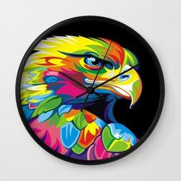 Abstract Pop Art Eagle Owl Wall Clock