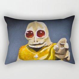Enik the Friendly Sleestak Rectangular Pillow