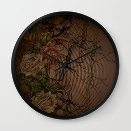 Roses of the Night Wall Clock