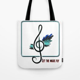 Let the music fly Tote Bag