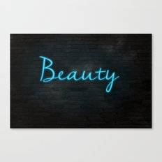NEON MESSAGE - BEAUTY Canvas Print