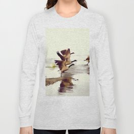 The Take Off - Wild Geese Long Sleeve T-shirt