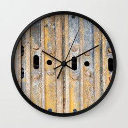 Rusty excavator caterpillar Wall Clock