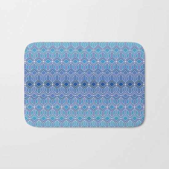 Blue Intersections Bath Mat