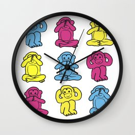 Monkey, monkey, monkey Wall Clock