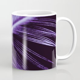 Purple Ultraviolet Feather close up Coffee Mug