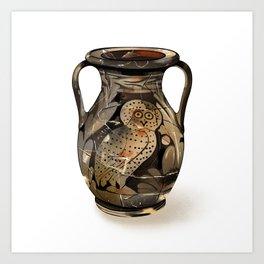 Greek Pelike with an Owl Art Print