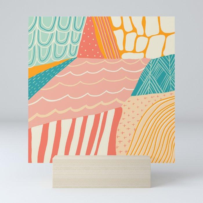 beach quilt Mini Art Print