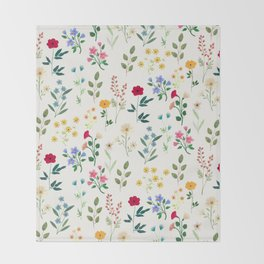 Spring Botanicals Throw Blanket