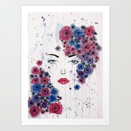 I Dream of Flowers Art Print