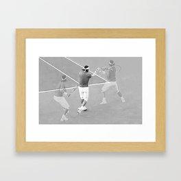 Rafa's running backhand Framed Art Print