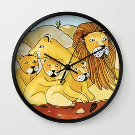 Noah's Ark - Lion Wall Clock