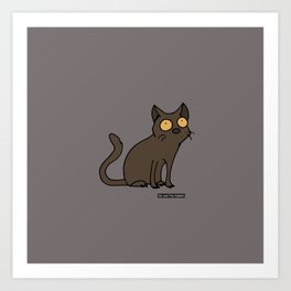 Cat - Burmese cat Art Print