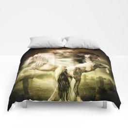 Midnight Stallion Comforters