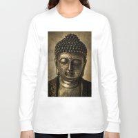meditation Long Sleeve T-shirts featuring Meditation by inkedsandra
