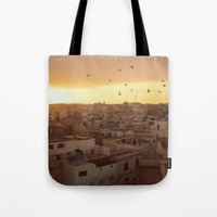 casablanca Tote Bags featuring Casablanca by GF Fine Art Photography