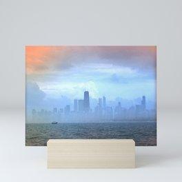 Foggy Skyline #21 Mini Art Print