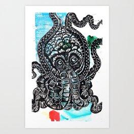 Seabeast! Art Print