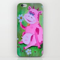 cow iPhone & iPod Skins featuring Cow by OLHADARCHUK