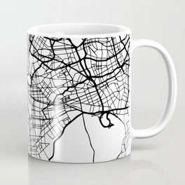 NEW YORK CITY NEW YORK BLACK CITY STREET MAP ART Coffee Mug