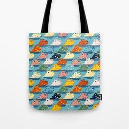 Happy Hippo Family Tote Bag