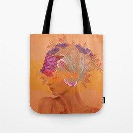 Woman in flowers III Tote Bag