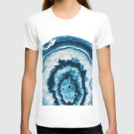Blue White Agate #1 #gem #decor #art #society6 T-shirt