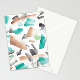 180719 Koh-I-Noor Watercolour Abstract 39| Watercolor Brush Strokes Stationery Cards