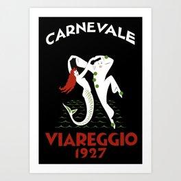 Viareggio Italy - Vintage Travel Art Print