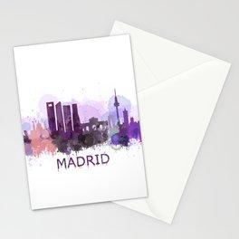 Madrid City Skyline HQ Stationery Cards