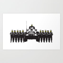 Banksy Have a nice day Art Print