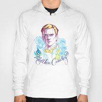downton abbey Hoodies featuring RIP Matthew Crawley, of Downton Abbey.  by Erin Gallagher Illustration and Design