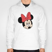 minnie mouse Hoodies featuring So cute Minnie Mouse by Yuliya L
