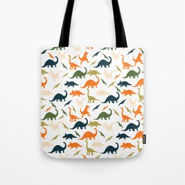 Dinos in Pastel Green and Orange Tote Bag