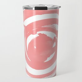 Swirl Rose Pink Travel Mug